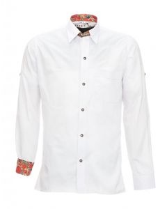 Overhemd lederhosen Wit Premium