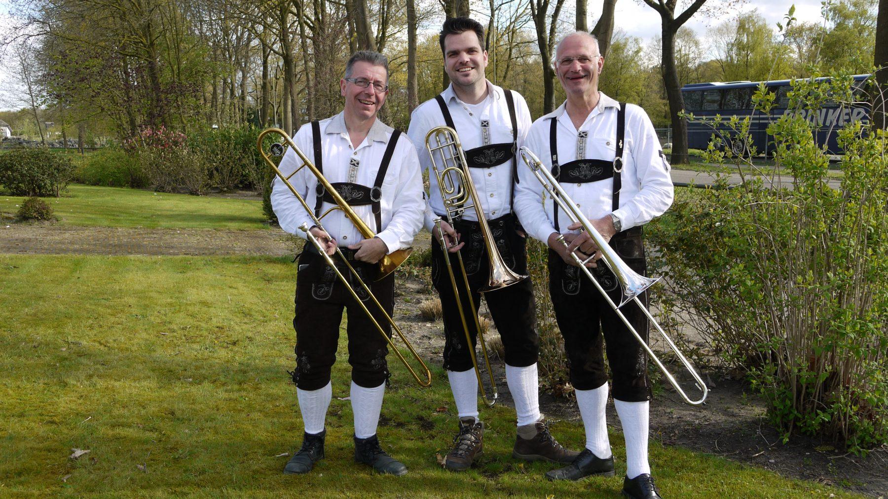 Eschlanderkapel trombonisten 2016