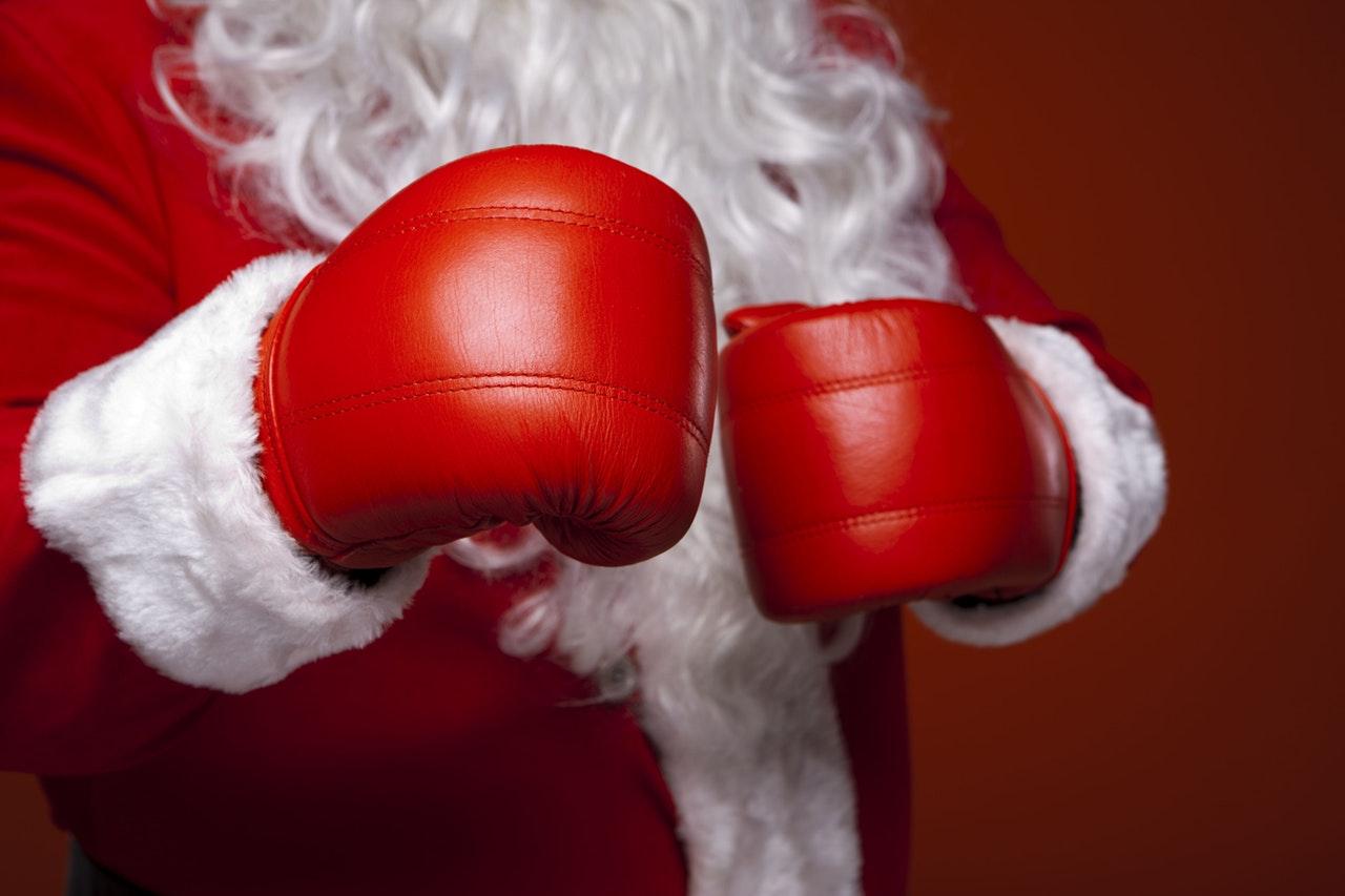 Kerstman in lederhosen