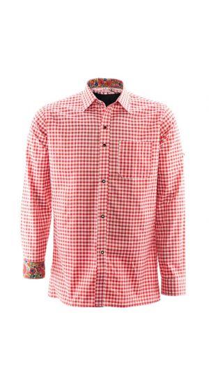 Overhemd lederhosen Rood Premium