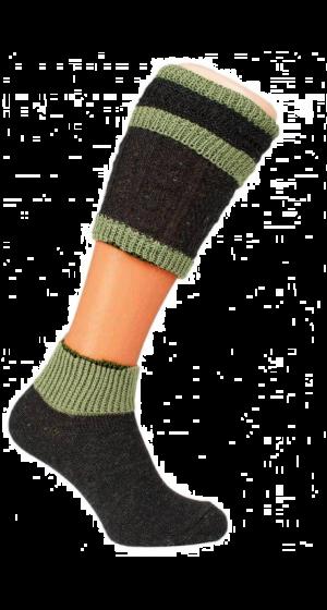 Loferl-donkerbruin-groen