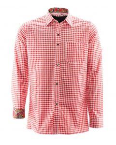 Alpenoverhemd rood wit Premium