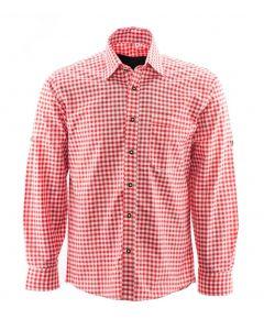 Alpenoverhemd rood wit